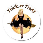 TRICK OR TREAT Round Car Magnet