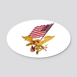 AMERICAN EAGLE Oval Car Magnet