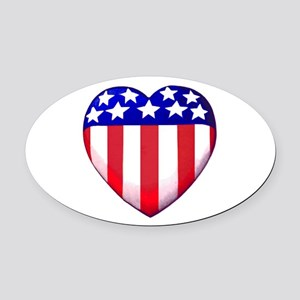 MY AMERICAN HEART Oval Car Magnet