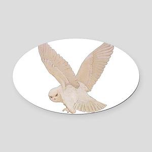 owl2_SQ_NEW copy Oval Car Magnet