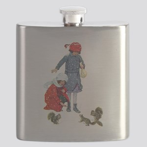 Squirrels in the snow031x Flask