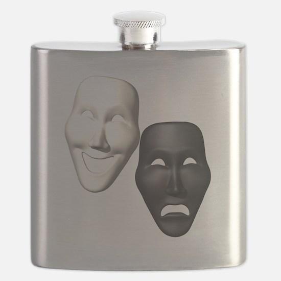 MASKS OF COMEDY & TRAGEDY Flask