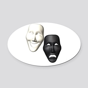 MASKS OF COMEDY & TRAGEDY Oval Car Magnet