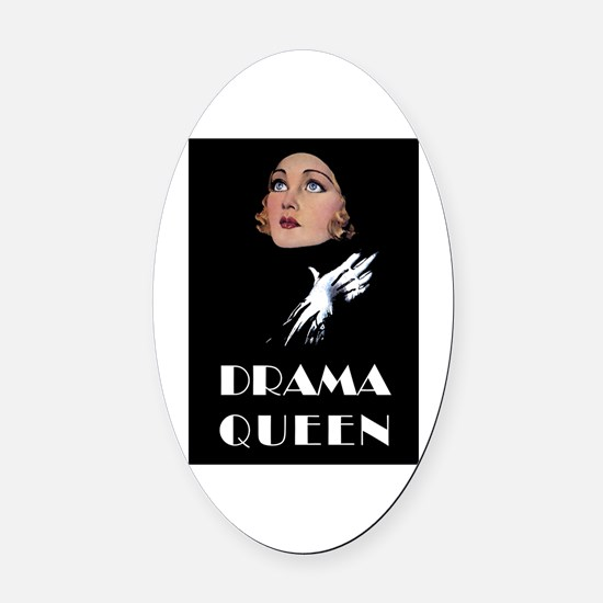 DRAMA QUEEN Oval Car Magnet