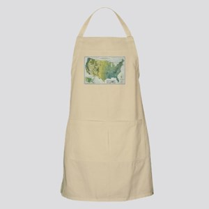 Vintage United States Precipitation Ma Light Apron
