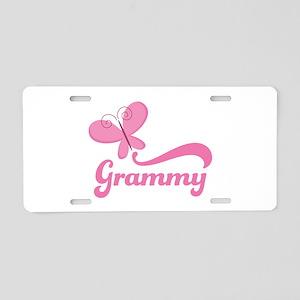 Grammy Grandma Breast Cancer Aluminum License Plat