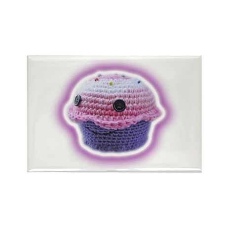 Yarn Cupcake Rectangle Magnet (100 pack)