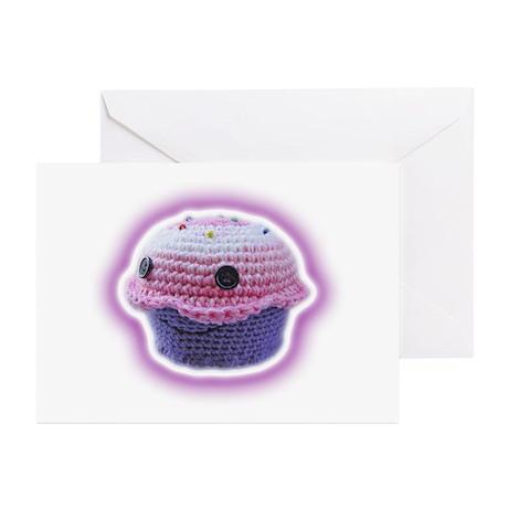Yarn Cupcake Greeting Cards (Pk of 10)