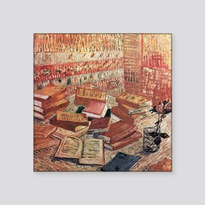 """Van Gogh French Novels and Rose Square Sticker 3"""""""