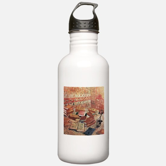 Van Gogh French Novels and Rose Water Bottle