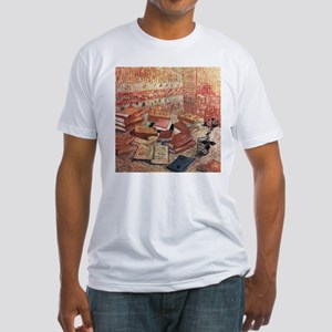 Van Gogh French Novels and Rose Fitted T-Shirt