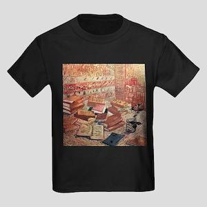 Van Gogh French Novels and Rose Kids Dark T-Shirt