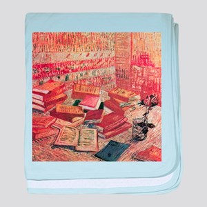 Van Gogh French Novels and Rose baby blanket