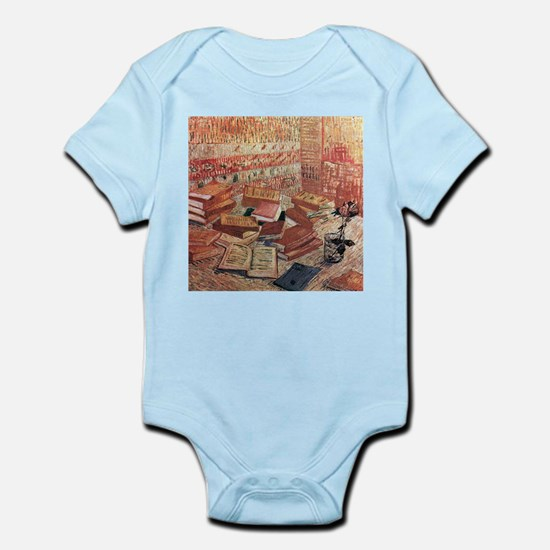 Van Gogh French Novels and Rose Infant Bodysuit