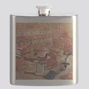 Van Gogh French Novels and Rose Flask