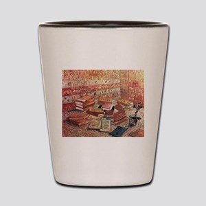 Van Gogh French Novels and Rose Shot Glass