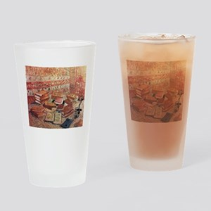 Van Gogh French Novels and Rose Drinking Glass
