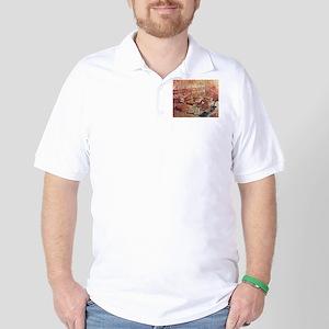 Van Gogh French Novels and Rose Golf Shirt