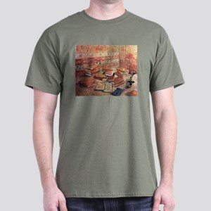 Van Gogh French Novels and Rose Dark T-Shirt