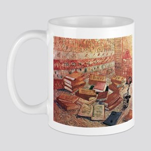 Van Gogh French Novels and Rose Mug