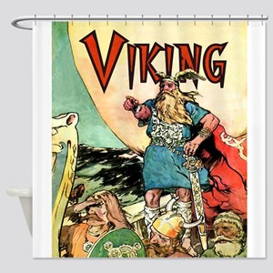 Vintage Viking Shower Curtain