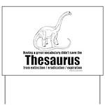 Thesaurus Yard Sign