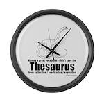 Thesaurus Large Wall Clock