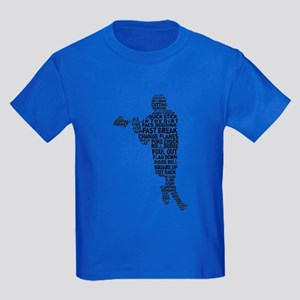 Lacrosse Player Typography T-Shirt