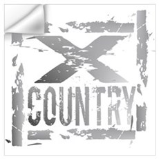 Cross Country Grunge Wall Decal