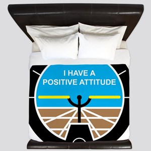 I Have a Positive Attitude King Duvet