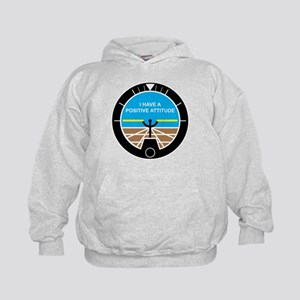 I Have a Positive Attitude Kids Hoodie