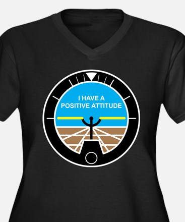I Have a Positive Attitude Women's Plus Size V-Nec
