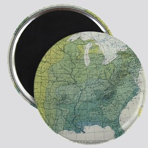 Vintage United States Precipitation Map (1 Magnets