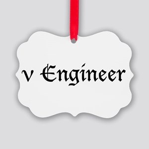 nuengineer_black Picture Ornament