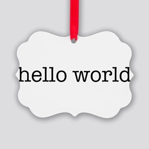 Hello World Picture Ornament