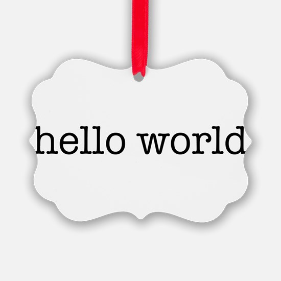 Hello World Ornament