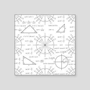 "unitcircle_bk Square Sticker 3"" x 3"""