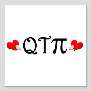 "qtpiheart Square Car Magnet 3"" x 3"""