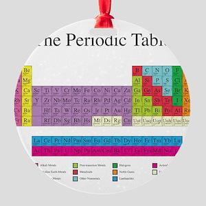 Periodic Table Round Ornament