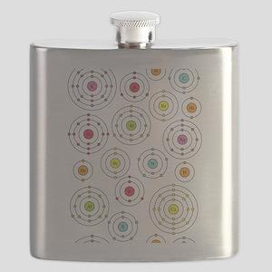 periodic shells fabric Flask