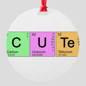 cute_color Round Ornament