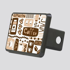 coffee_pattern Rectangular Hitch Cover