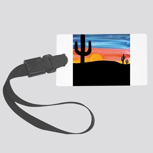 sunset_painting Large Luggage Tag