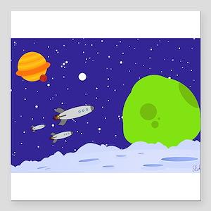 "spacepatrol_ipad Square Car Magnet 3"" x 3"""