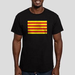 Catalonia Flag Men's Fitted T-Shirt (dark)