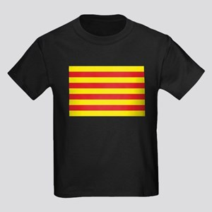 Catalonia Flag Kids Dark T-Shirt