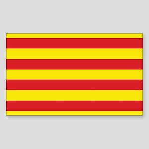 Catalonia Flag Sticker (Rectangle)