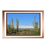 Snowy Four Peaks with Border Postcards (Package of