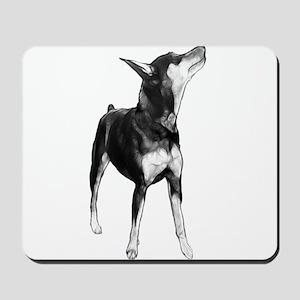 Miniature Pinscher Sketch Mousepad