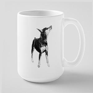 Miniature Pinscher Sketch Large Mug